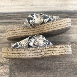 Sam Edelman Shoes - EUC Sam Edelman snakeskin espadrilles sandals